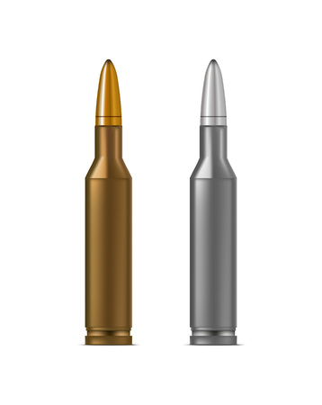 Realistic Detailed 3d Bullets. Vector