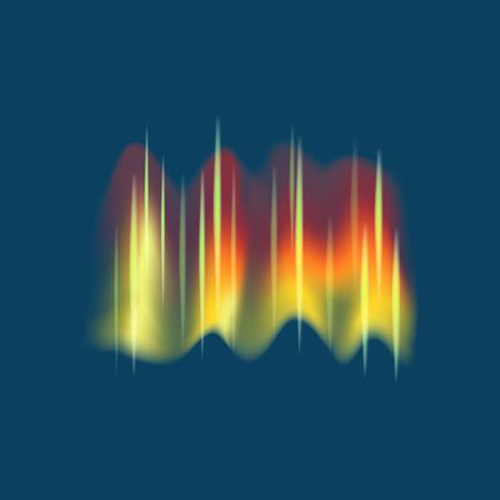 Realistic Detailed 3d Northern Aurora Lights on a Blue Sky Background. Vector illustration of Borealis Shining Vektorové ilustrace