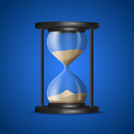 Realistic Detailed 3d Hourglass with Sand Inside. Vector
