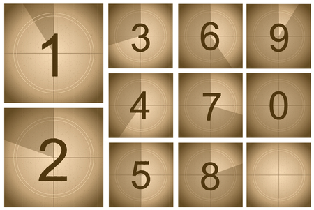 Compte à rebours Frame Movie Concept Card Poster Set Timer Count for Graphic Web Design. Illustration vectorielle de l'écran