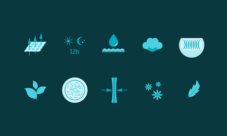 Cartoon Diaper Characteristics Color Icons Set. Vector Standard-Bild - 112951205