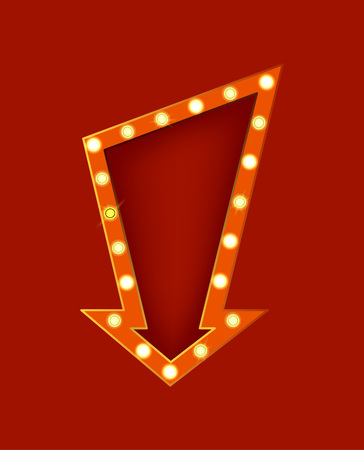 Realistic Detailed 3d Glowing Sign Signboard. Vector