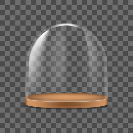 Realistic Detailed 3d Glass Dome Container Protection for Food. Vector Standard-Bild - 117254037