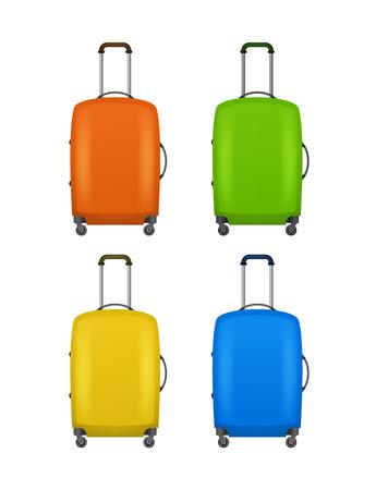 Realistic Detailed 3d Bag for Traveling Set. Vector Standard-Bild - 117254045