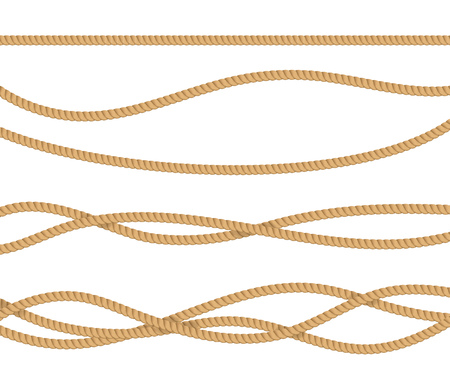 Realistic 3d Detailed Rope for Decoration. Vector Standard-Bild - 118410742