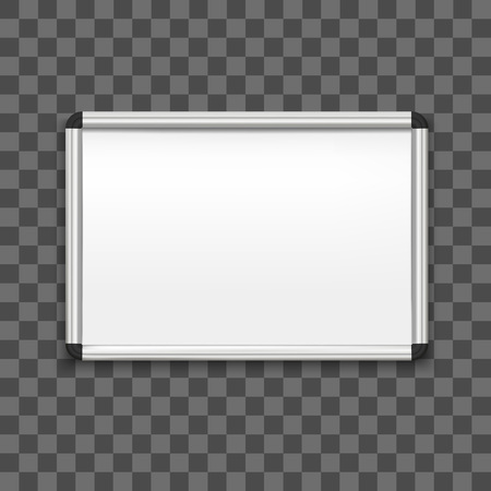 Realistic Detailed 3d Whiteboard on a Transparent Background for School and Business Office. Vector illustration of Education White Board Illustration