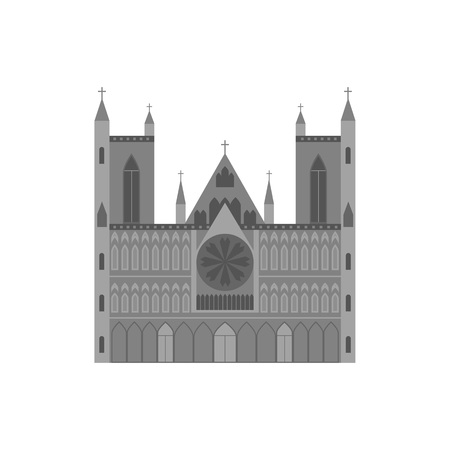 Cartoon Norwegian Cathedral Building Travel and Tourism Symbol. Vector Standard-Bild - 118410775