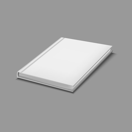 Realistic Detailed 3d White Blank Hardcover Book Template Mockup and Closeup. Vector illustration of Object Textbook, Education, Catalog or Copybook Standard-Bild - 119040310