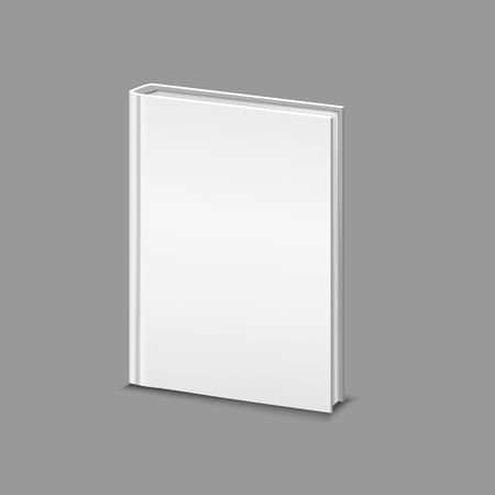 Realistic Detailed 3d White Blank Hardcover Book Template Mockup for Web. Vector illustration of Object Textbook, Education, Catalog or Copybook Standard-Bild - 119040311