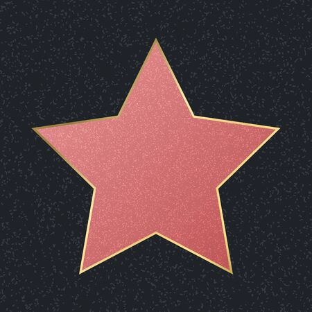 Walk of Fame Empty Pink Star. Vector Ilustrace