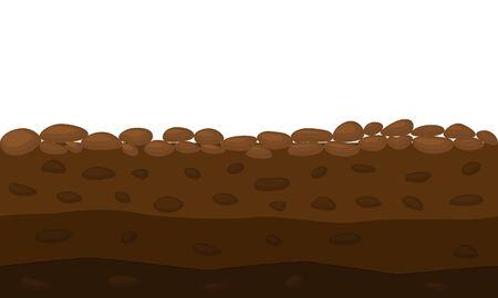 Color Cross Section of Brown Ground. Vector Illusztráció