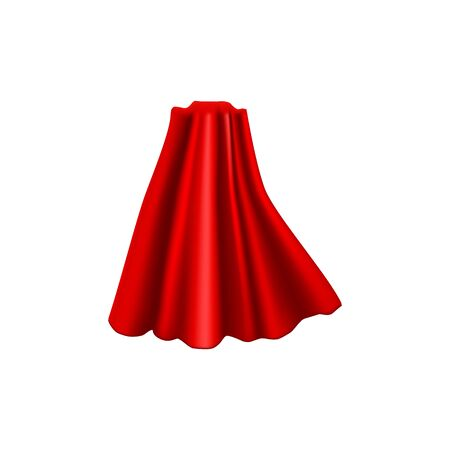 Realistic Detailed 3d Red Cloak Costume Superhero. Vector 向量圖像