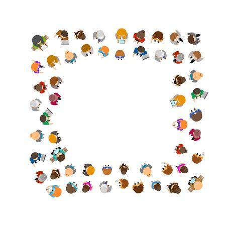 Cartoon Color People Standing . Vector
