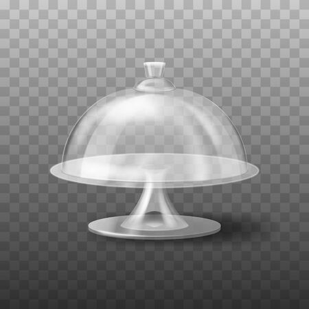 Realistic 3d Detailed Glass Cake Stand. Vector