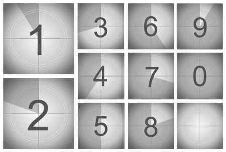 Countdown Frame Concept Card Poster Set. Vector
