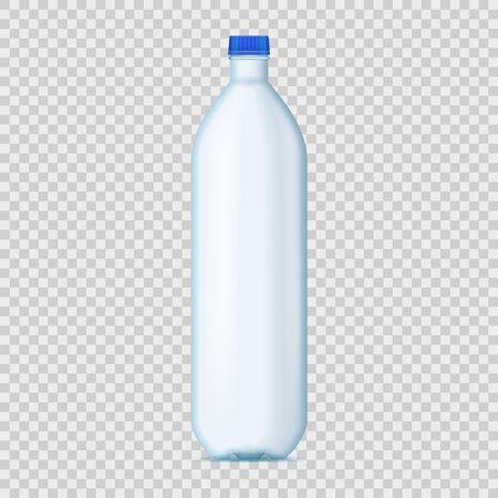 Realistic Detailed 3d Blank Plastic Bottle Template Mockup. Vector Ilustração