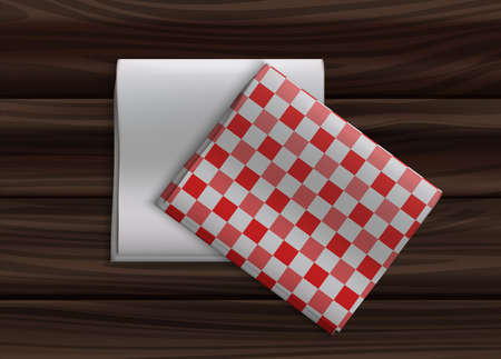 Realistic Detailed 3d Different Type Napkin on Table. Vector
