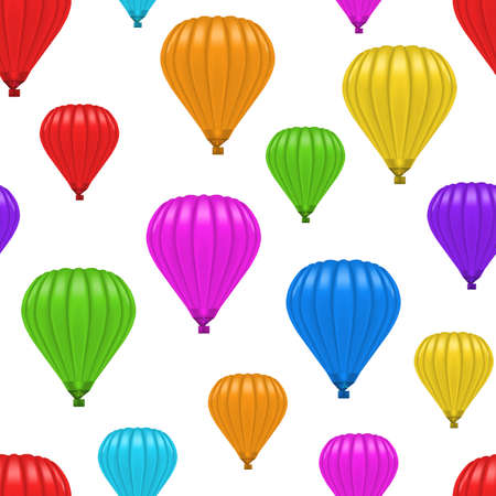Realistic Detailed 3d Color Blank Ballon Seamless Pattern Background . Vector