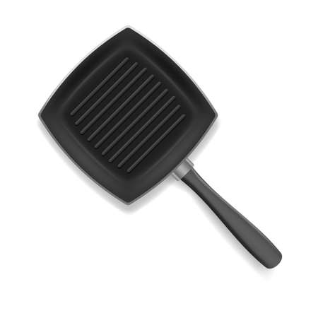 Realistic 3d Detailed Frying Pan with Handle . Vector
