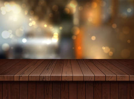 Realistic Detailed 3d Brown Wooden Floor. Vector