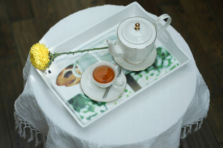 Give the body refreshment time with a hot tea photo
