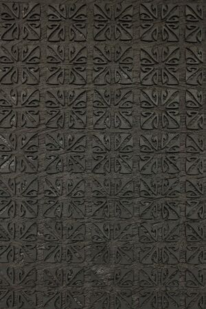 texture of black wood on the wall photo
