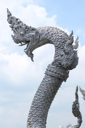 Dargon, Naga , Big snake statue and water photo