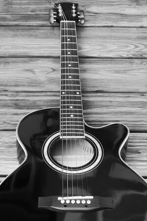 Acoustic Guitar In Black And White The Music Room Photo