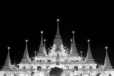 year s: Wat Asokaram, Sumutpakran, Thai pagoda at night on New Year Eve s Day in  Thailand