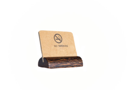 tabacco: Brown color of no smoking sign displayed on a white background