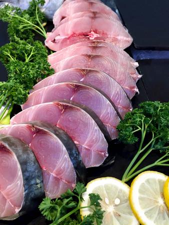 Fillet of Mackerel Slide in the market Standard-Bild