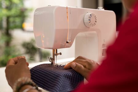 stitchwork: Sewing Process - Women making clothes with Sewing machine
