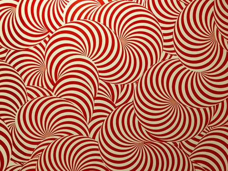 Red circle tube shape background pattern wallpaper texture Stock Photo