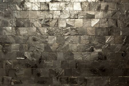 Stony wall background texture pattern for decoration industrial Imagens