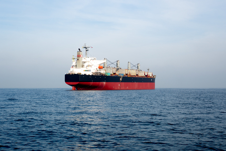 Oil and gas tanker ship in the ocean