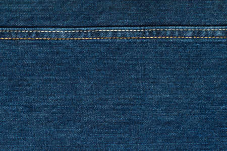 Blue Jeans Cloth With Seam. Background Texture. Reklamní fotografie