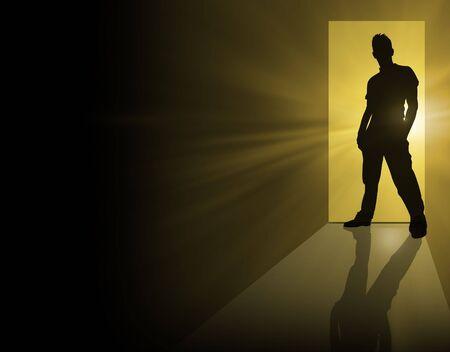 man in doorway Stock Photo - 2414490