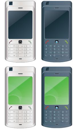 vector mobile phones Stock Vector - 4440672