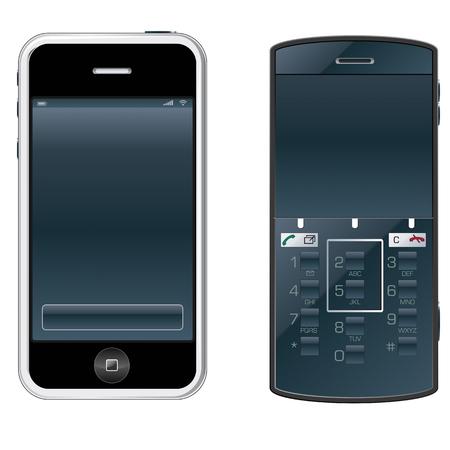 vector mobile phones Stock Vector - 4440673