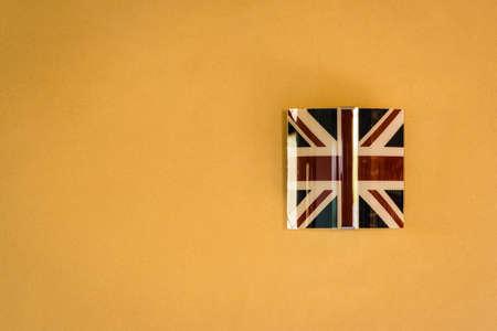 wall lamp: A wall lamp representing the british flag Stock Photo