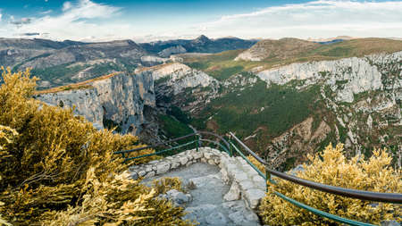 Stunning views over the Verdon canyon in France