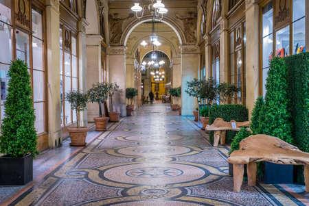 Galerie Vivienne in Paris with its mosaic floor