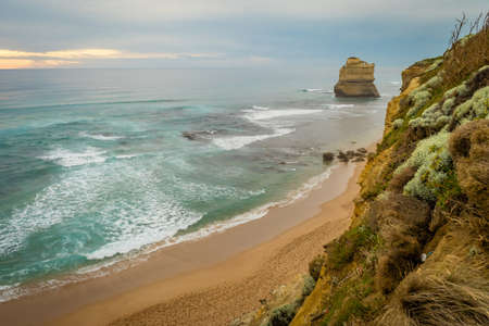 Twelve apostles in Australia on a cloudy day