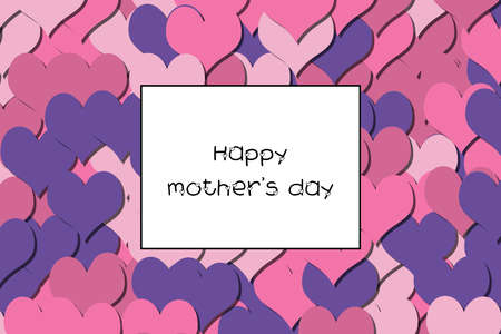 Happy mothers day text on a colorful heart background