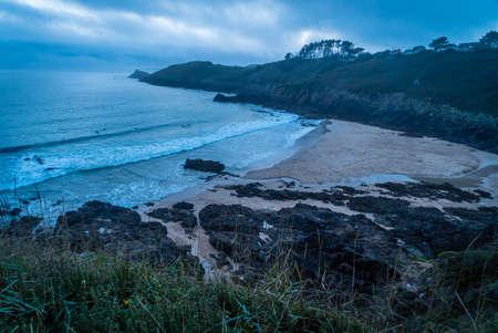 Petit minou beach close to Brest in Bretagne in France