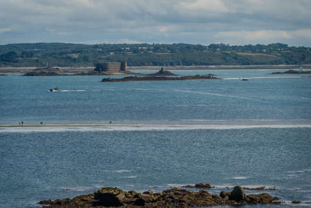 Casle of the english close to Roscoff in Brittany in France