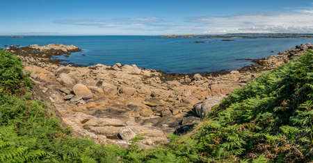 Callot island panorama in Bretagne in France Archivio Fotografico