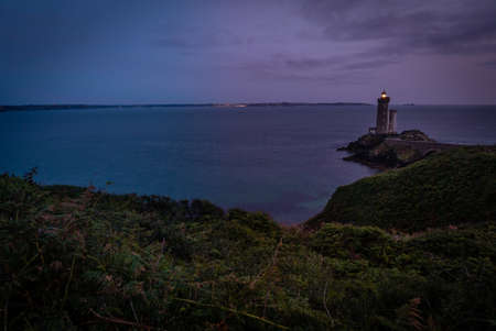 Petit minou lighthouse at dusk in France in the summer