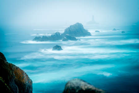Pointe du raz long exposure photo with strong currents in Bretagne