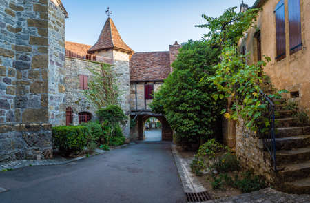Loubressac most beautiful villages of France in Lot department in France